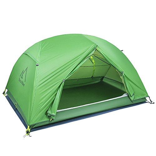 Terra Hiker Ultraleichte Camping Zelte, 2 Personen Kuppelzelt, Wasserdicht Campingzelt,...