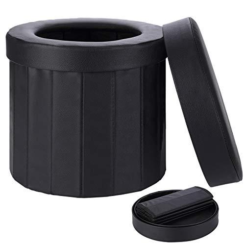 TripTips Tragbare Toilette Campingtoilette Outdoor Toilettenstuhl Auto Toilette Klapphocker Toilette für...