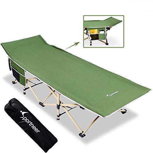 Sportneer Campingbett, Camping Bett mit Tragetasche für Erwachsene, Extra Breit Faltbar...