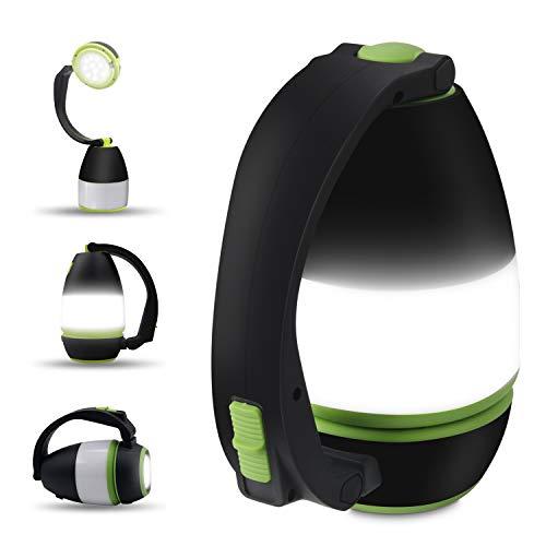 Bawoo LED Campinglampe Camping Laterne, IPX4 wasserdicht USB Wiederaufladbar Taschenlamp Notfallleuchte...