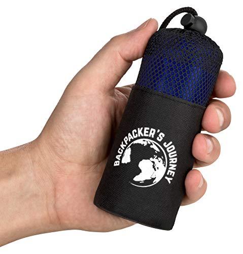 Backpacker's Journey Reiseschlafsack (nur 155g), ultraleichter und platzsparender Hüttenschlafsack aus...