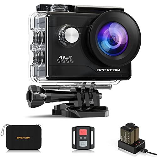 Apexcam 4K Action cam 20MP WiFi Sports Kamera Ultra HD Unterwasserkamera 40m 170 °...
