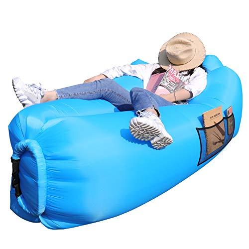AngLink Luftsofa, 2021 Neu Kissenentwurf Wasserdichtes Aufblasbares Sofa Air Lounger mit 2...