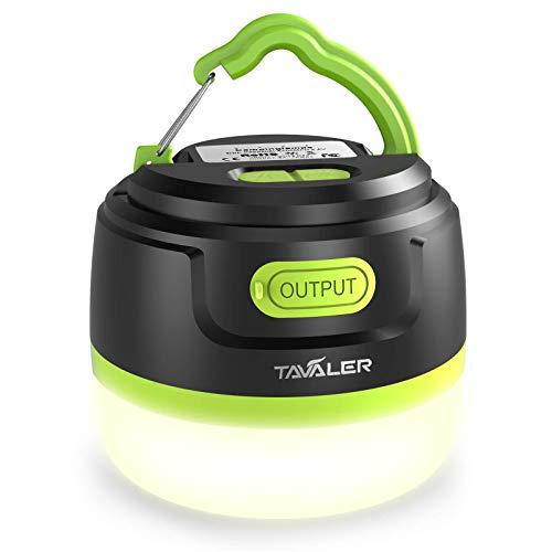 Tavaler Campinglampe LED 5200 mAh Akku Zeltlampe USB Aufladbar Camping Lampen IP65...