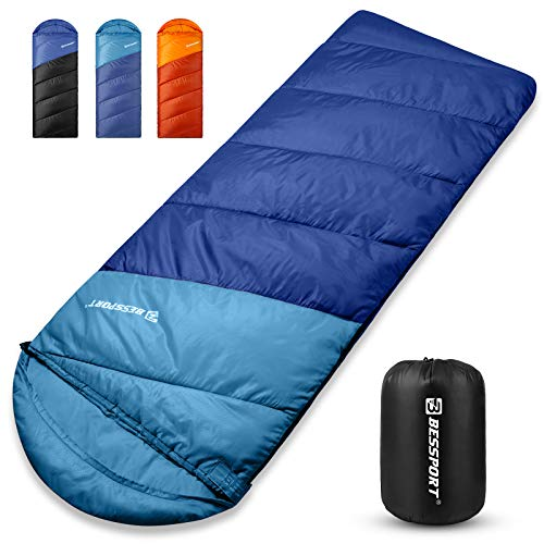 Bessport Schlafsack Winter Erwachsene, 5℃ Warm Deckenschlafsack 3 Jahreszeiten, Outdoor...