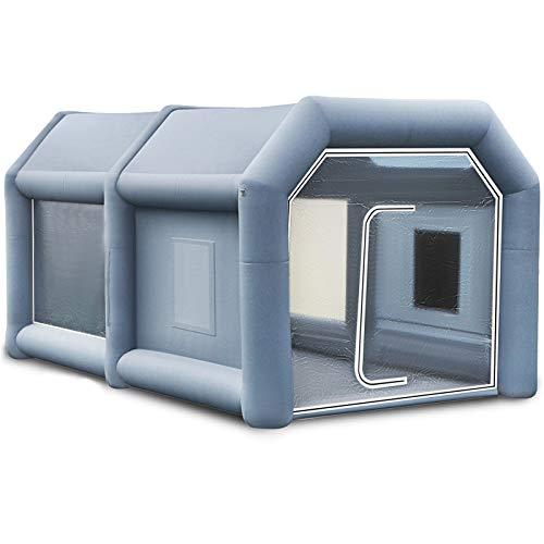 VEVOR Aufblasbare Lackierkabine Zelt aufblasbar Auto Sprühkabine Lack Zelt 13x8x7Ft für...