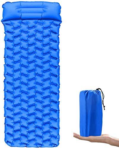 BACKTURE Isomatte Camping, Ultraleichte Aufblasbare Isomatte mit Kissen, Wasserdichte und...