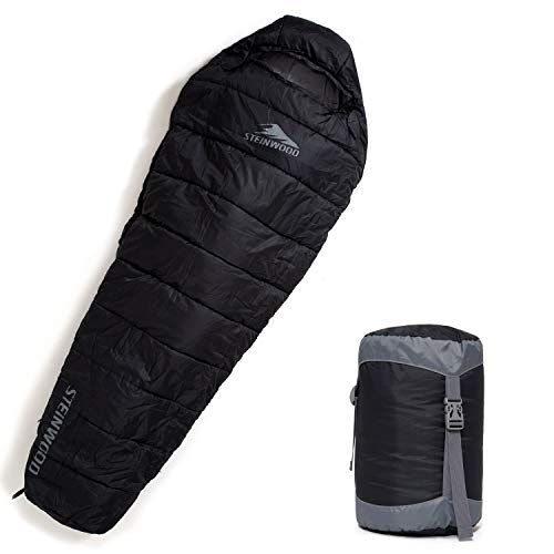 Steinwood Premium Schlafsack koppelbar Kompakt 3-4 Season 210cm - Outdoor-Schlafsack,...