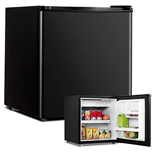 COSTWAY 48L Mini Kühlschrank Flaschenkühlschrank Getränkekühlschrank mit Gefrierfach/wechselbarer...