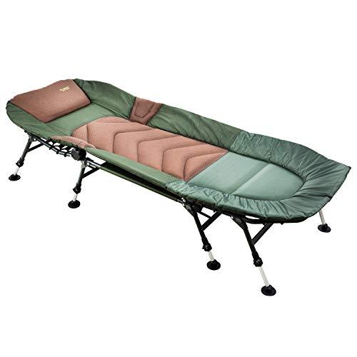 MK-Angelsport ' 8 Bein Karpfenliege bis 150kg belastbar - Angelliege Bedchair Gartenliege Liege Modell 2021