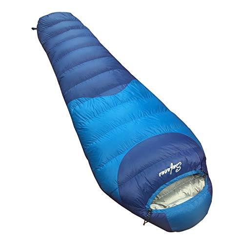 SAFACUS -10 Grad Daunenschlafsack für Wanderungen und Camping – Schlafsack Winter –...