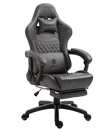 Dowinx Gaming Stuhl Bürostuhl Ergonomischer PC-Stuhl mit Massage Lendenwirbelstütze,...