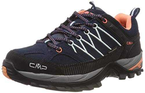 CMP Damen Rigel Low Wmn Shoes Wp Trekking-& Wanderhalbschuhe, Blau (B.Blue-Giada-Peach...