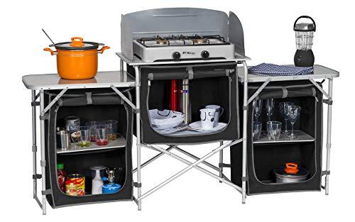 BERGER Campingküche XL Küchenbox faltbar Aufbauschrank Camping Aufbewahrungsbox...