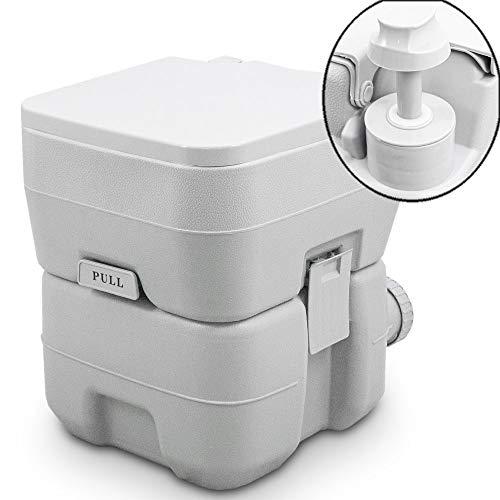 BITUXX Tragbare Campingtoilette Reise WC Mobile Chemietoilette Campingklo 20L mit...