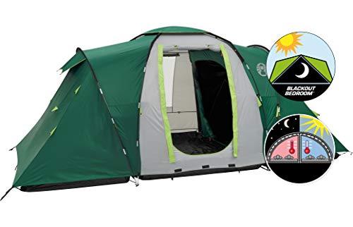 Coleman Spruce Falls 4 Zelt, 4 Personen Kuppelzelt mit nachtschwarzer Schlafkabine, 4 Mann...