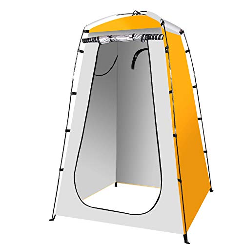 Qdreclod Camping Duschzelt Tragbar Umkleidezelt Toilettenzelt Draussen, 120 * 120 * 180...