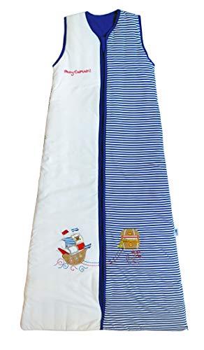Schlummersack Jungen Kinderschlafsack leicht gefüttert in 1 Tog - Pirat - 150 cm/6-10...