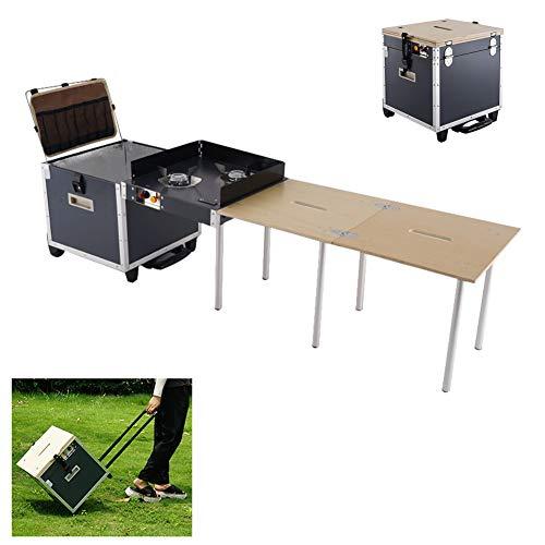 LDIW Outdoor Küche Mobile tragbare klappbare Campingküche Auto-Picknickausrüstung für Garden Patio BBQ...