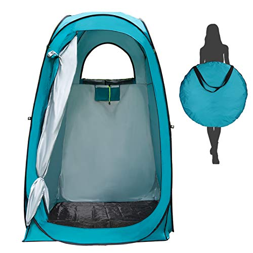YUANJ Camping Duschzelt, Pop Up Toilettenzelt Wasserdicht Umkleidezelt, Outdoor Privat...