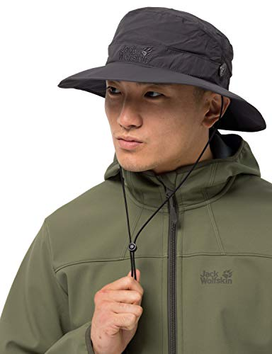 Jack Wolfskin Supplex MESH HAT Hut, Dark Steel, M