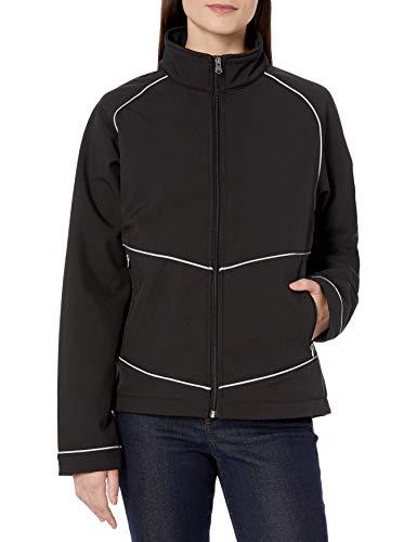CAT Women's Workwear Damen Sara Soft Shell Jacket Fleece-Jacke, Pitch Black, Medium