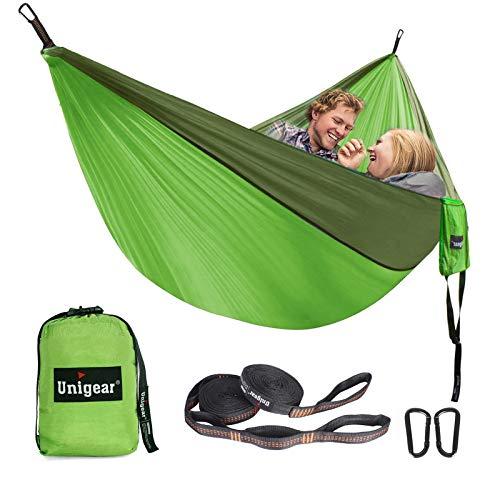 Unigear Hängematte Ultraleicht, 320X200cm Camping Hängematte 2 Personen 300kg Tragelast, Ultraleichte...