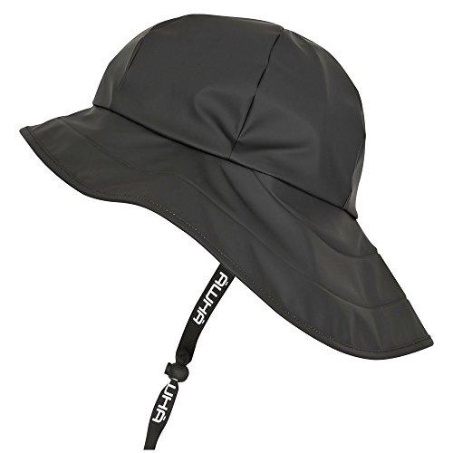 AWHA Südwester Regenhut schwarz/Unisex - wasserdichte Mütze mit breiter Krempe und...