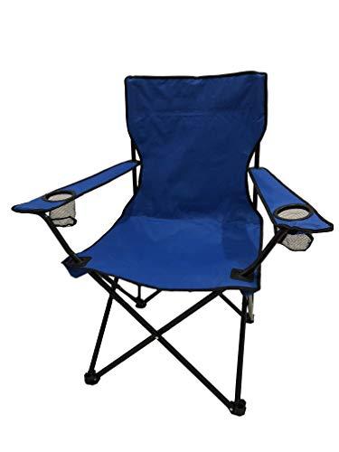HOMECALL Faltbarer Campingstuhl Mit Becherhalter Und Hoher Rückenlehne