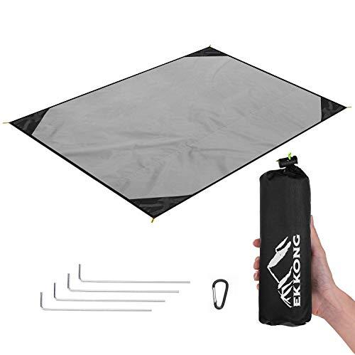 EKKONG Picknickdecke Wasserdicht, Ultraleicht, Kleines Packmaß - Ideal für Ground Sheet,...