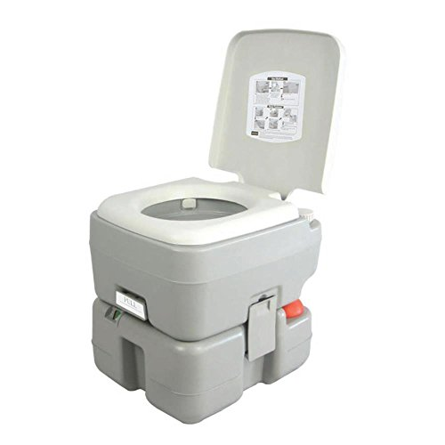 SereneLife Tragbare Outdoor Toilette mit Tragetasche, Reise-Toilette mit Füllstandsanzeige | |...