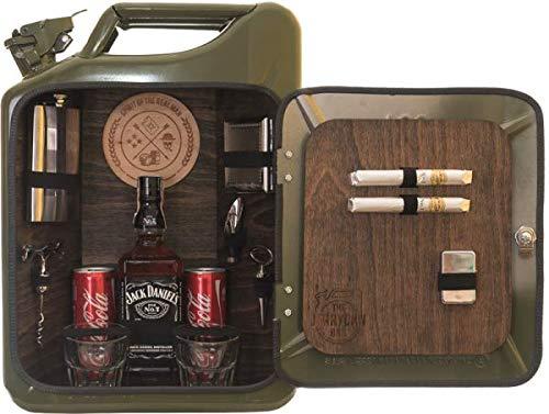 Die Männerbar für echte Kerle für Flasche und Getränkedosen – genialer Kanister als...