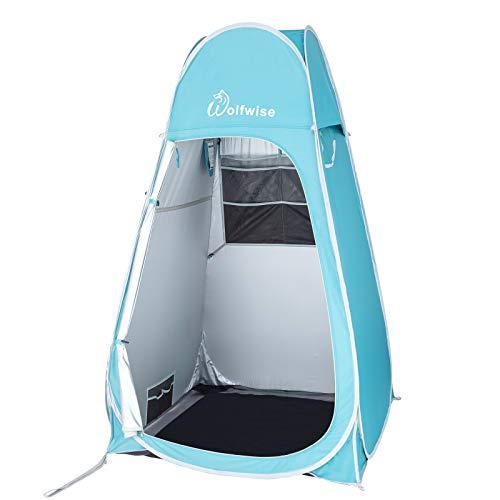 WolfWise Pop up Umkleidezelt Toilettenzelt Camping Duschzelt Mobile Outdoor Privatsphäre...