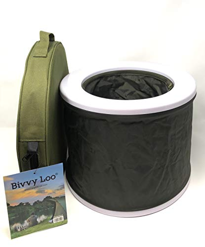 Bivvy Loo Campingtoilette, tragbar, faltbar, max Tragfähigkeit ca. 140 kg, für Camping,...