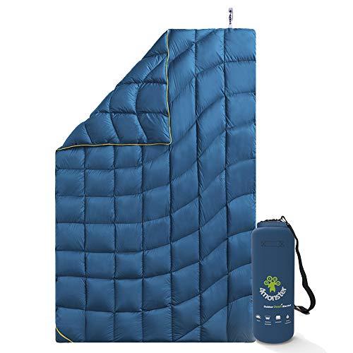4Monster Outdoor Daunendecke Ultraleicht für Camping, Kompakte Reisedecke Bettdecke Warm...
