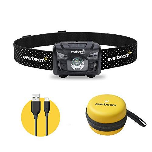 Everbeam H6 Pro LED Stirnlampe mit Bewegungssensor, 650 Lumen, 30 Stunden Laufzeit, 1200...