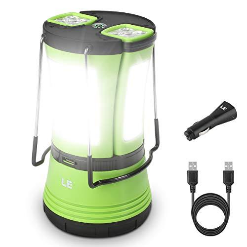 LE LED Campinglampe mit 2 abnehmbaren Taschenlampen, Batteriebetrieben & 1800mAh Akku Notfallleuchte, 600...