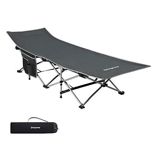 KingCamp Feldbett mit Seitentasche Ultraleicht Campingbett Klappbett Indoor Outdoor bis...