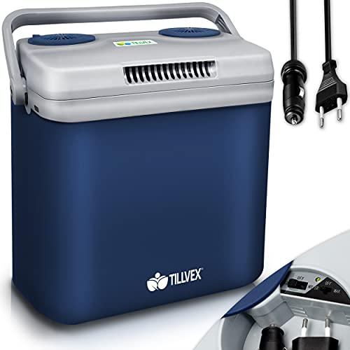 tillvex Kühlbox elektrisch 32L   Mini-Kühlschrank 230 V und 12 V für KFZ Auto Camping  ...