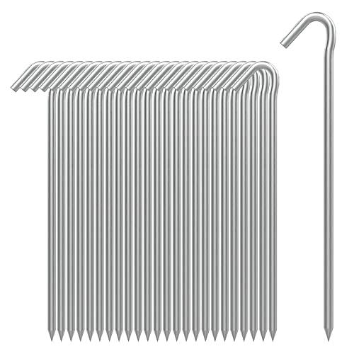 AAGUT Zeltheringe, robuste Metallheringe, Zaunhaken, verzinkt, 22,9 cm, 6 Ga Gartenpfähle...
