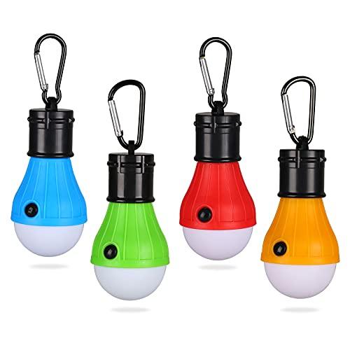 Yizhet Campinglampe, 4xLED Campinglampe LED Camping Laterne Zeltlampe Glühbirne Set,...