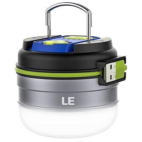 LE LED Campinglampe, Wiederaufladbare Suchscheinwerfer mit 3000mAh Powerbank, tragbar &...