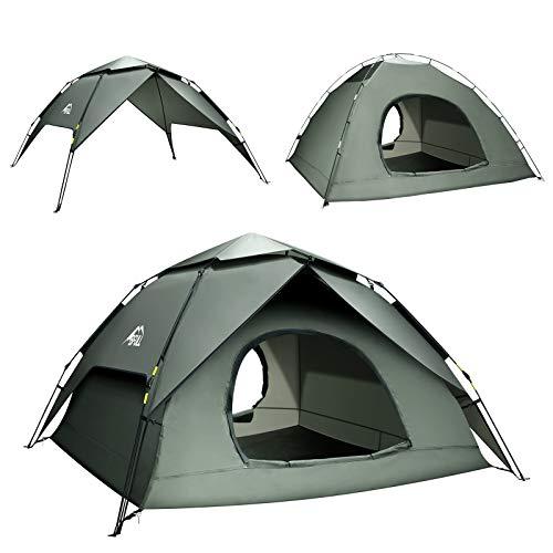BFULL Pop-up Familie Camping Zelt 4-5 Personen, wasserdicht belüftet abnehmbare...