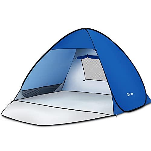 Glymnis Strandmuschel Pop Up Strandzelt Strand Zelt mit Reißverschlusstür UV-Schutz 50+...