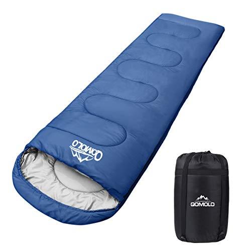 Qomolo Schlafsack, 1000g Outdoor Deckenschlafsack Tragbar Ultraleichter Wasserdichter und...