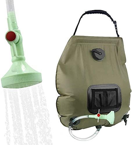KIPIDA Campingdusche Solardusche 20L Duschsack Solar Heizung Camping Dusche Tasche mit...