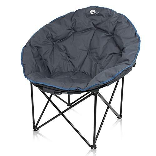 your GEAR Campingstuhl Ortona XXL Moon Chair Faltbarer Outdoor Sessel - Klappstuhl ø 100cm max 130kg
