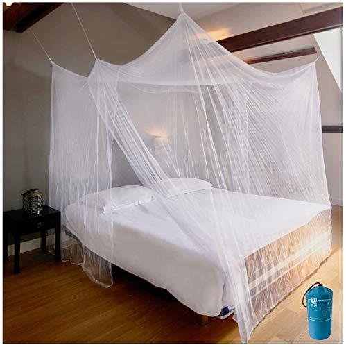 EVEN NATURALS Luxus MOSKITONETZ Doppelbett, großes Mückennetz für Bett, feinste...