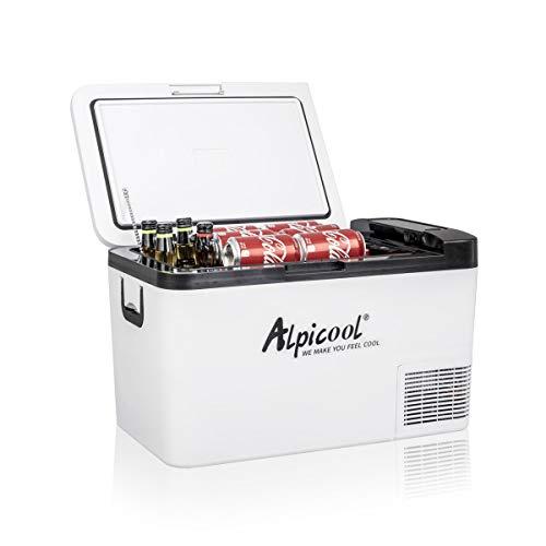 Alpicool K25 25 Liter Kühlbox Kühlschrank Gefrierbox Mini tragbare Elektrische Kühlbox...