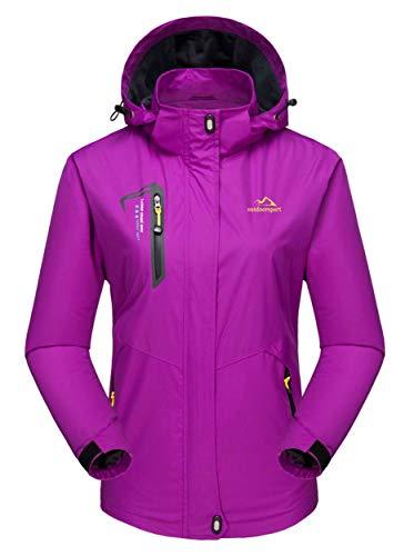 MAGCOMSEN Damen Regenjacke Wasserdicht Skijacke Outdoor Funktionsjacke Damenjacke...